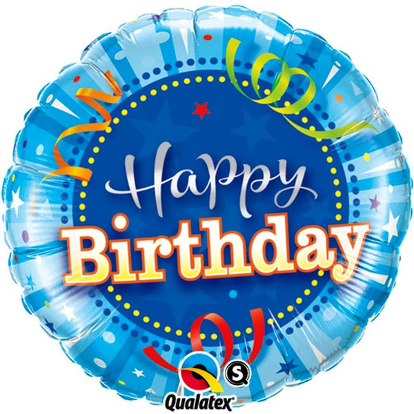 "Bright Blue Birthday 18"" Foil Balloon - Stamford My Shop is Local"