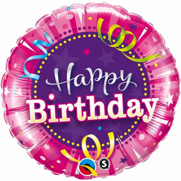 "Hot Pink Birthday 18"" Foil Balloon - Stamford My Shop is Local"
