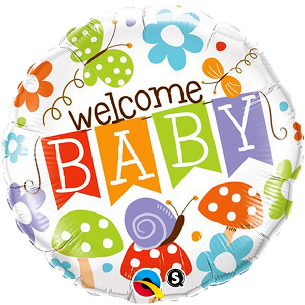 "Welcome Baby 18"" Foil Balloon - Stamford My Shop is Local"