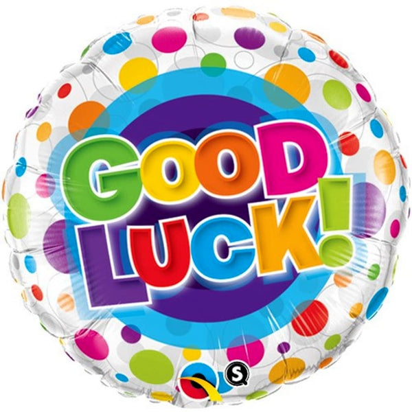 "Good Luck 18"" Foil Balloon - Stamford My Shop is Local"