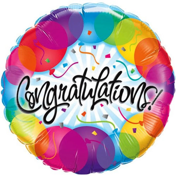 "Congratulations 18"" Foil Balloon - Stamford My Shop is Local"
