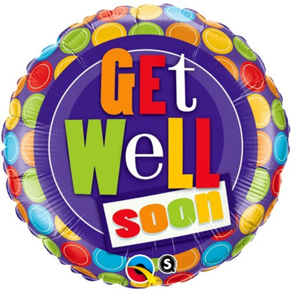 "Get Well Dotty 18"" Foil Balloon - Stamford My Shop is Local"