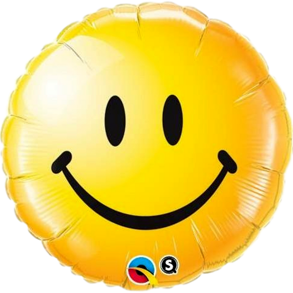 "Smiley Face Yellow 18"" Foil Balloon - Stamford My Shop is Local"