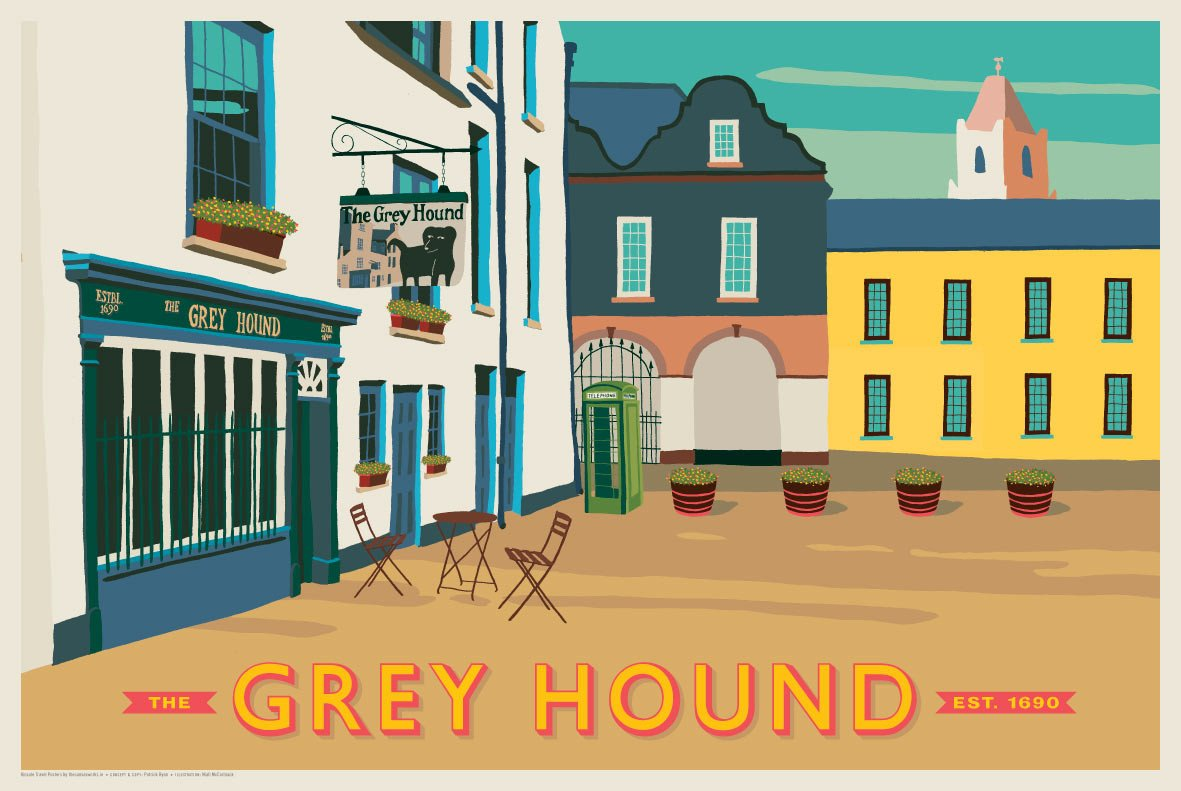 The Greyhound Kinsale, Est. 1690 (Landscape)
