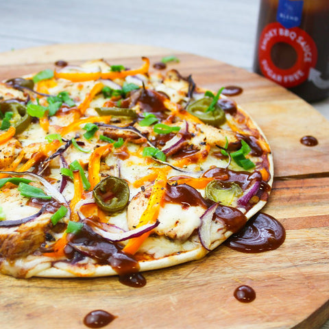 LoDough BBQ Chicken Pizza