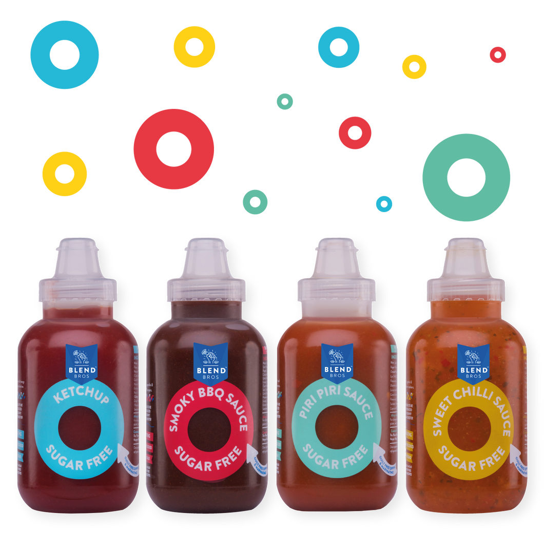 Blend Bros | Sugar Free Sauce | 4x 250ml Mixed Pack (Free UK Delivery)