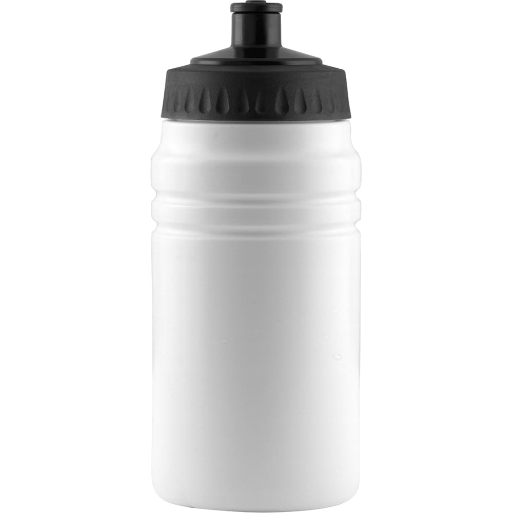 500ml Finesse Sports Bottle - White/Black - Drinks Bottle