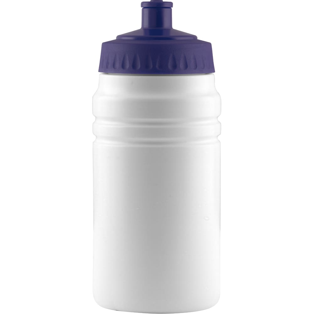 500ml Finesse Sports Bottle - White/Navy Blue - Drinks Bottle