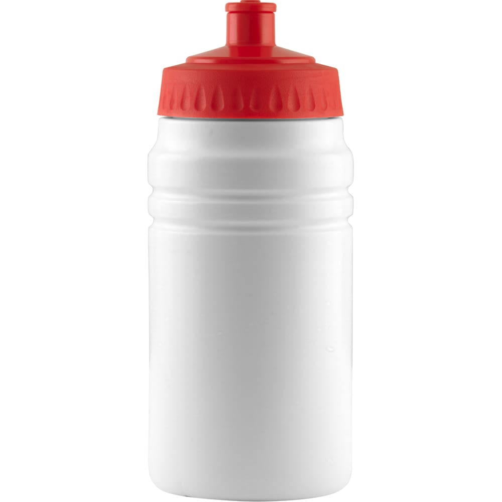 500ml Finesse Sports Bottle - White/Red - Drinks Bottle