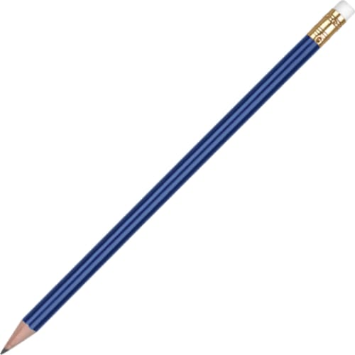 Aurora Pencil with Eraser - Blue - Wooden Pencil