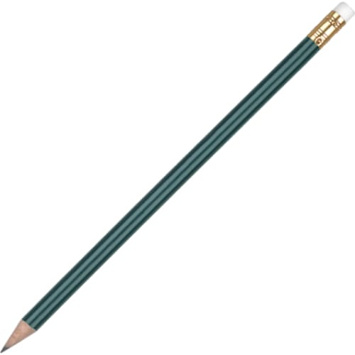 Aurora Pencil with Eraser - Green - Wooden Pencil