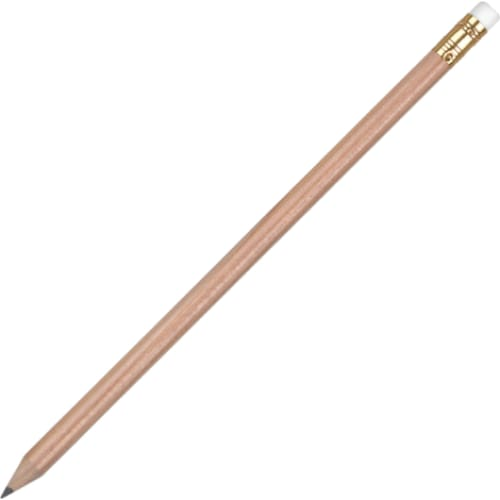 Aurora Pencil with Eraser - Natural - Wooden Pencil
