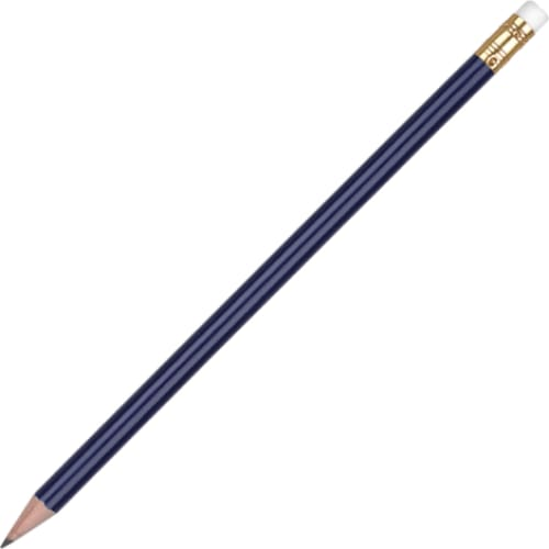 Aurora Pencil with Eraser - Navy - Wooden Pencil