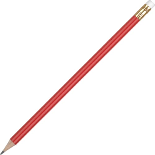 Aurora Pencil with Eraser - Red - Wooden Pencil