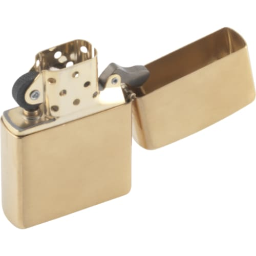 Brushed Brass Zippo Lighter - Cigarette Lighter