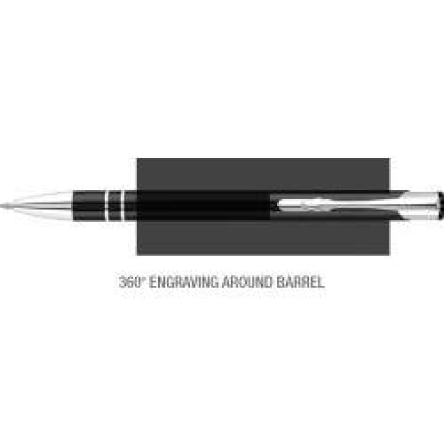 Elasis 360 Ballpen - Black - Push-Button Ballpen