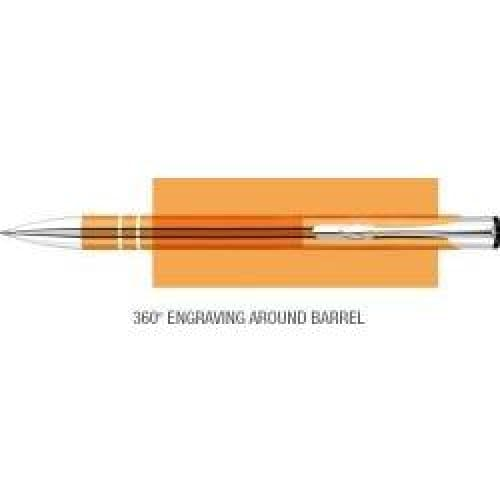 Elasis 360 Ballpen - Orange - Push-Button Ballpen