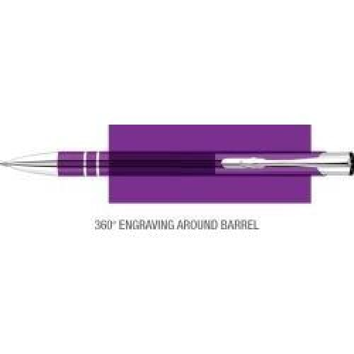 Elasis 360 Ballpen - Purple - Push-Button Ballpen