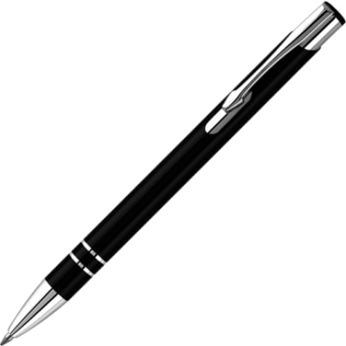 Hi-Shine Ballpen - Black - Push-Button Ballpen