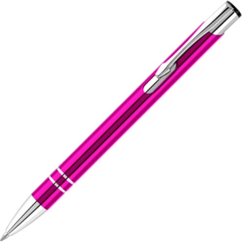 Hi-Shine Ballpen - Pink - Push-Button Ballpen