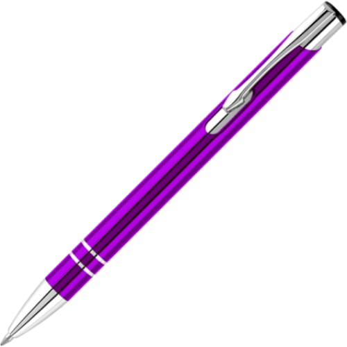 Hi-Shine Ballpen - Purple - Push-Button Ballpen