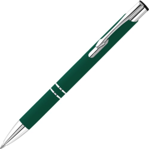 Hi-Shine Matte Soft Feel Ballpen - Dark Green - Push-Button Ballpen