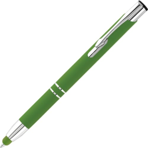 Hi-Shine Vibrance Matte Stylus Ballpen - Blue. Green - Push-Button Ballpen