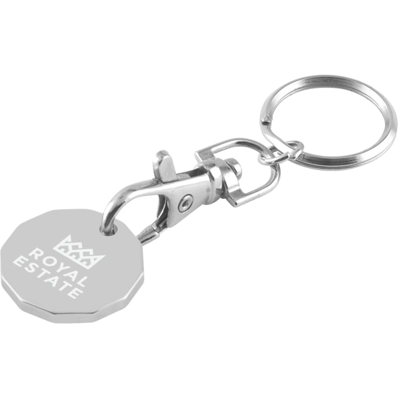 Laser Engraved Trolley Coin - Key Chain