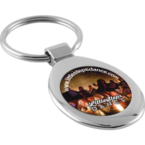 Luxury Metal Oval Keyring - Keyring