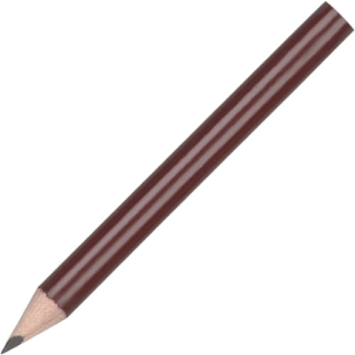 Mini Pencil - Dark Red - Wooden Pencil