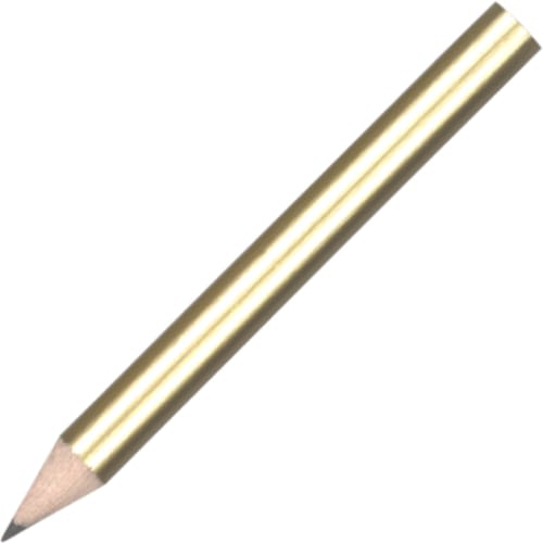 Mini Pencil - Gold - Wooden Pencil