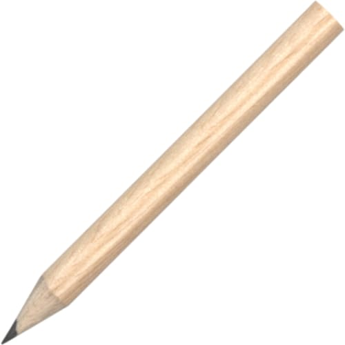 Mini Pencil - Natural - Wooden Pencil