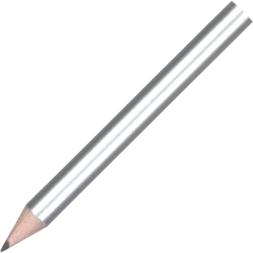 Mini Pencil - Silver - Wooden Pencil