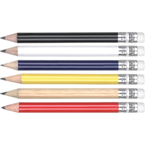 Mini Pencil with Eraser - Wooden Pencil