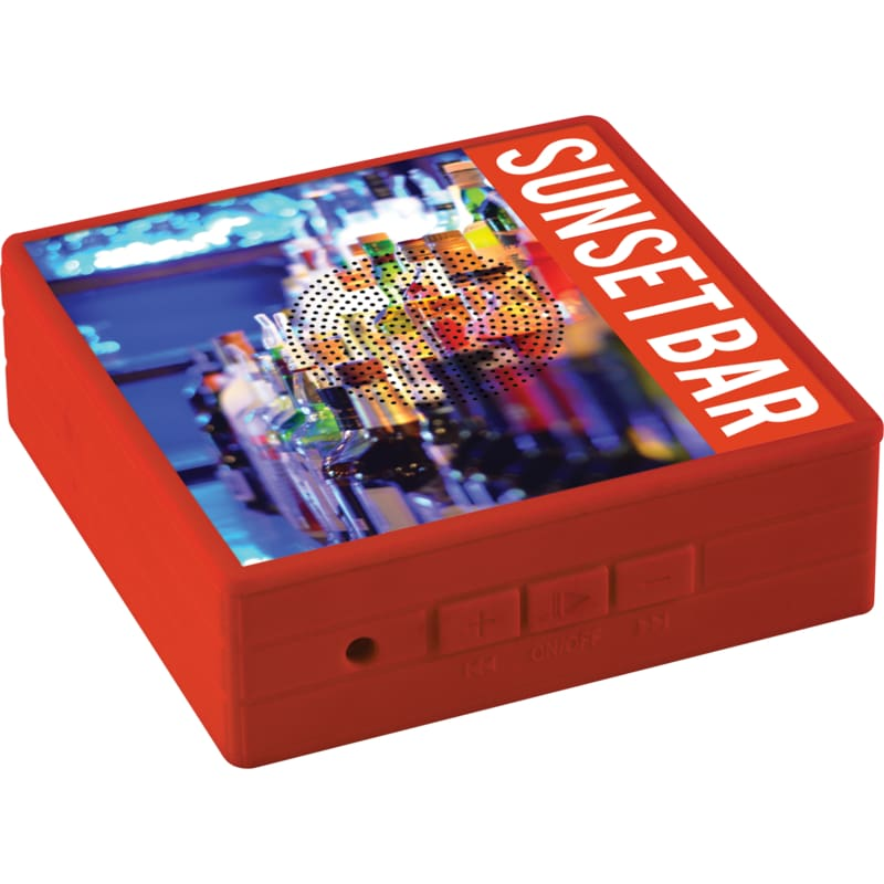 Personalised Bluetooth Speaker - Red - Speaker