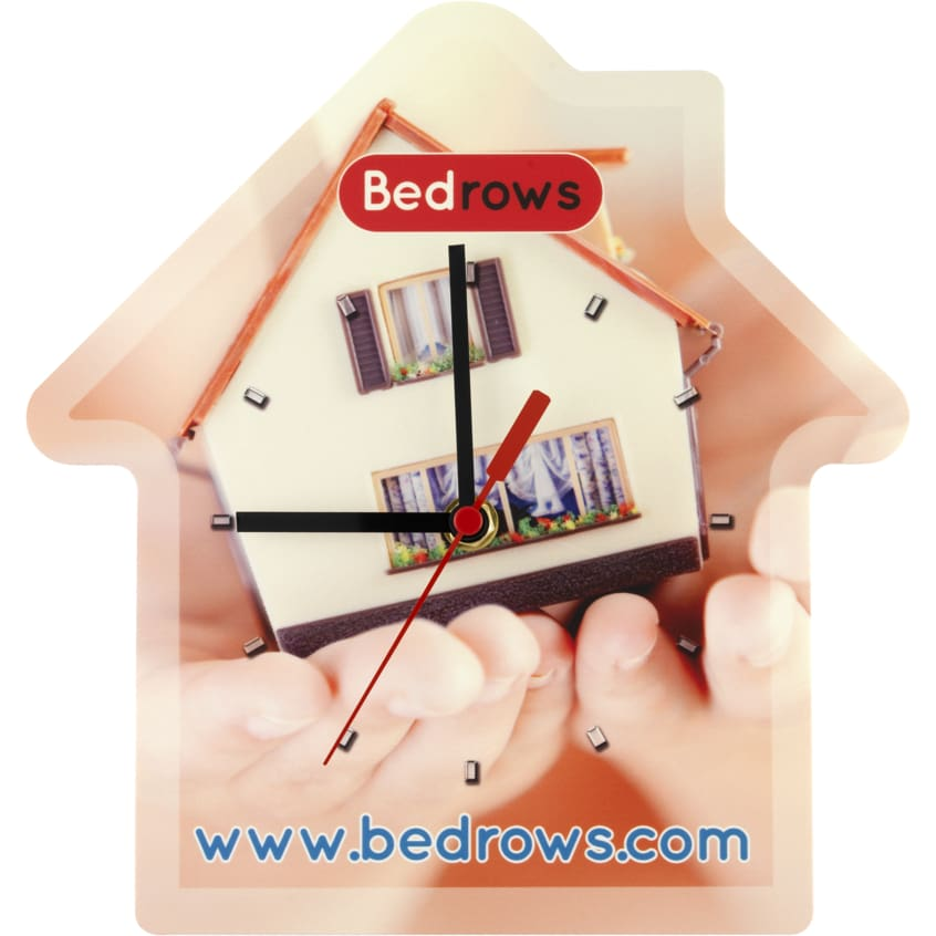 Personalised House Shaped Wall Clock - Wall Clock