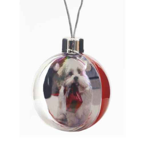 Printed Insert Bauble - Christmas Decoration
