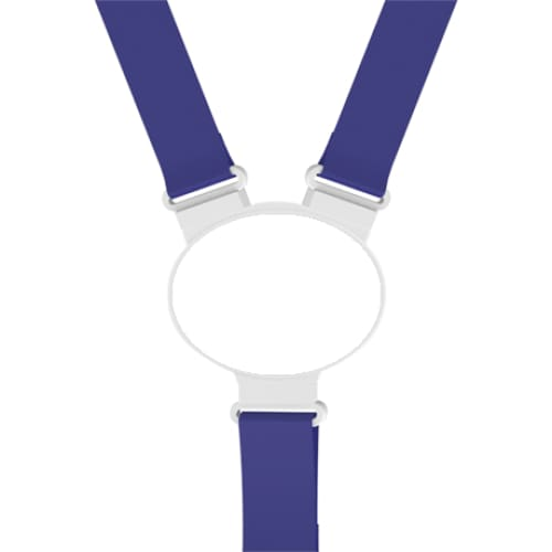 Printed Oval Disc Lanyard - Blue - Lanyard