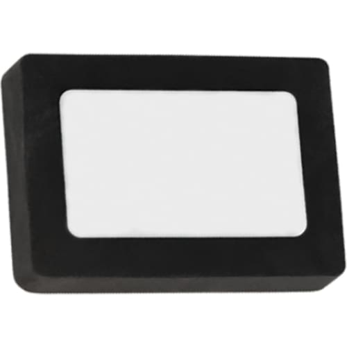 Printed Rectangle Colour Eraser - Black - Eraser