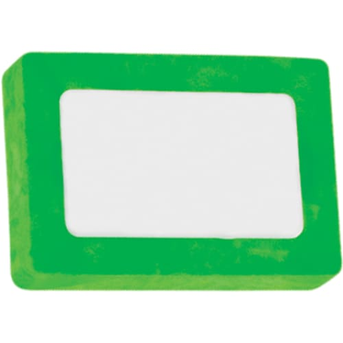 Printed Rectangle Colour Eraser - Green - Eraser