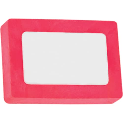 Printed Rectangle Colour Eraser - Magenta - Eraser