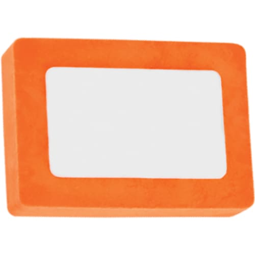 Printed Rectangle Colour Eraser - Orange - Eraser