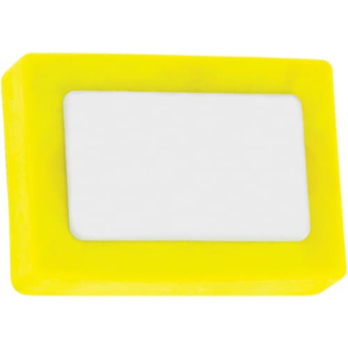 Printed Rectangle Colour Eraser - Yellow - Eraser