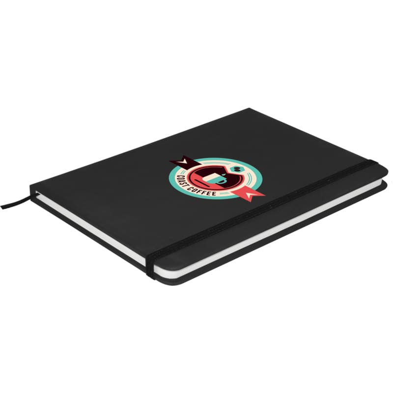 Soft Feel A5 Colour Notebook - Black - Notebook