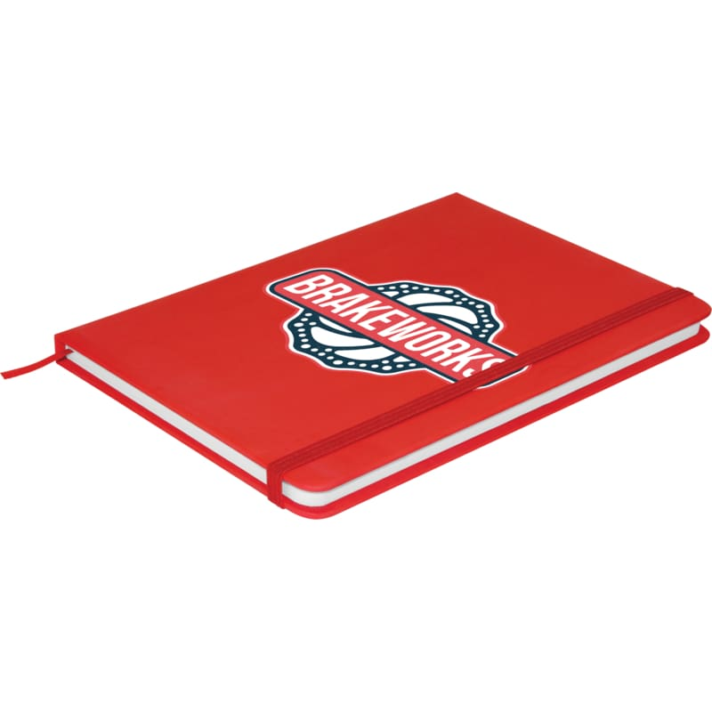 Soft Feel A5 Colour Notebook - Red - Notebook