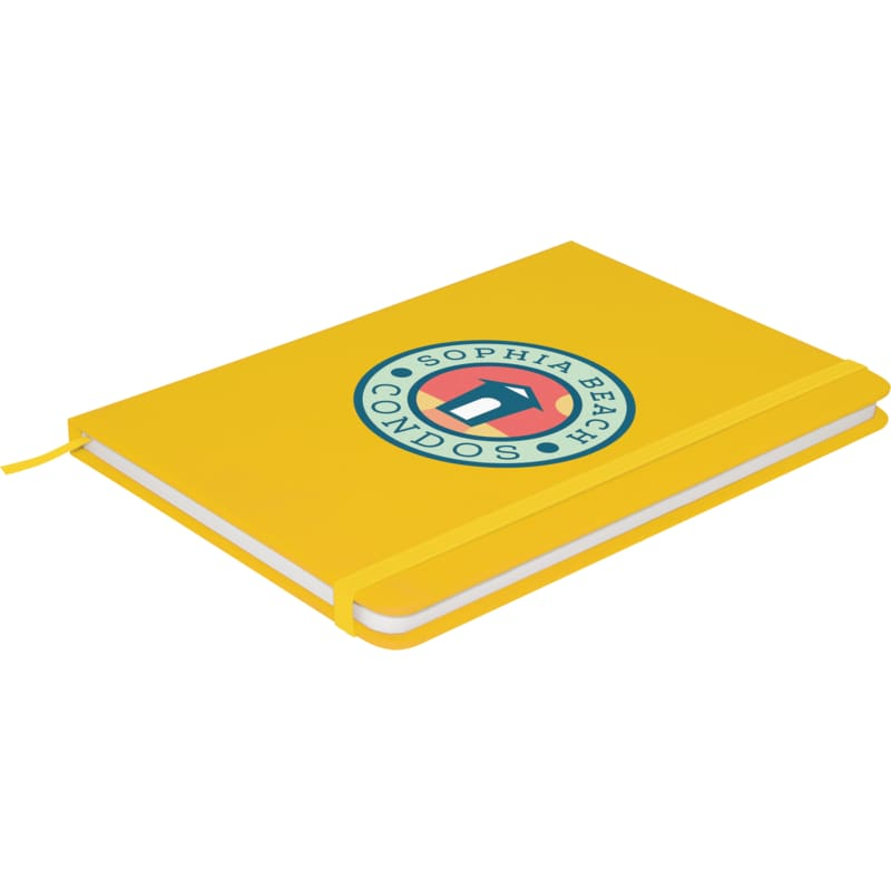 Soft Feel A5 Colour Notebook - Yellow - Notebook