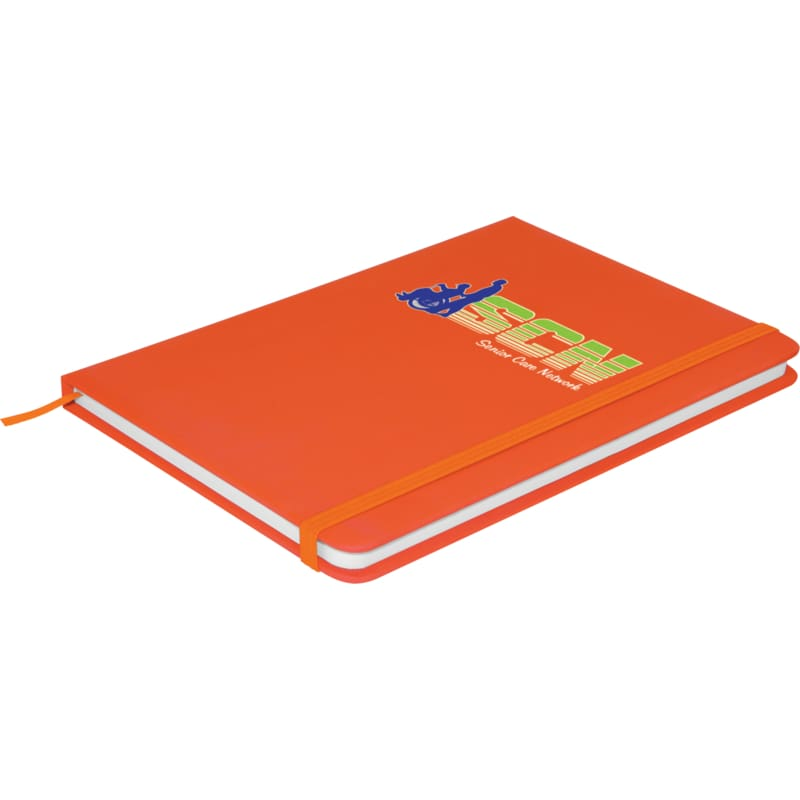 Soft Feel A6 Colour Notebook - Orange - Notebook