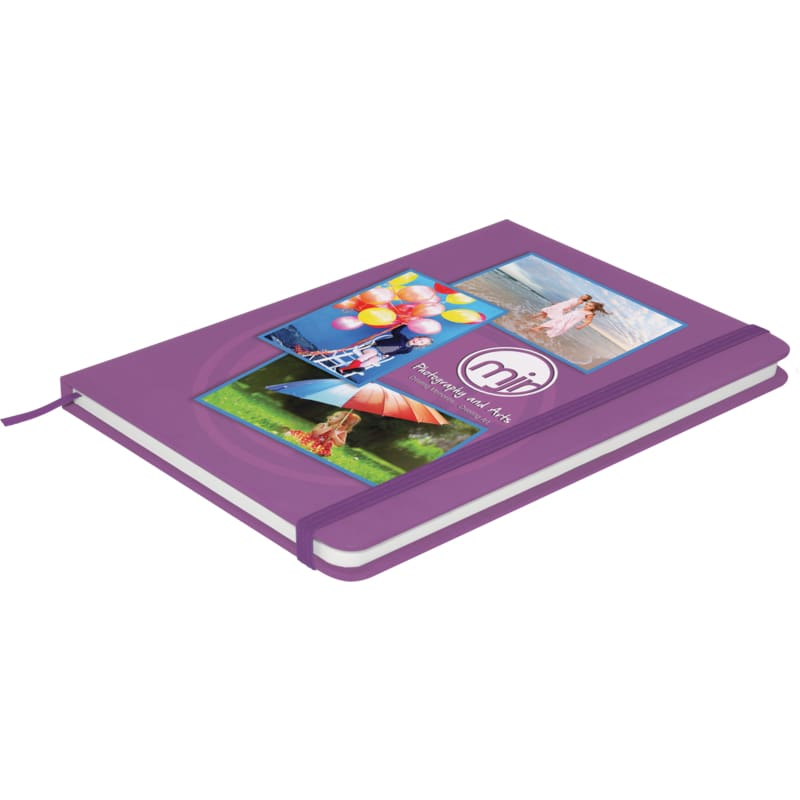 Soft Feel A6 Colour Notebook - Purple - Notebook