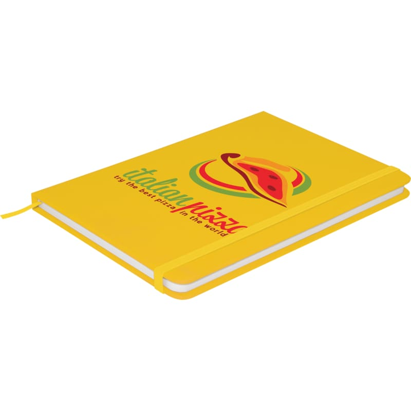 Soft Feel A6 Colour Notebook - Yellow - Notebook