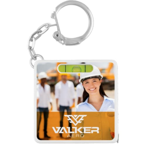 Spirit Level Tape Measure Keyring - Multi-tool Keyring